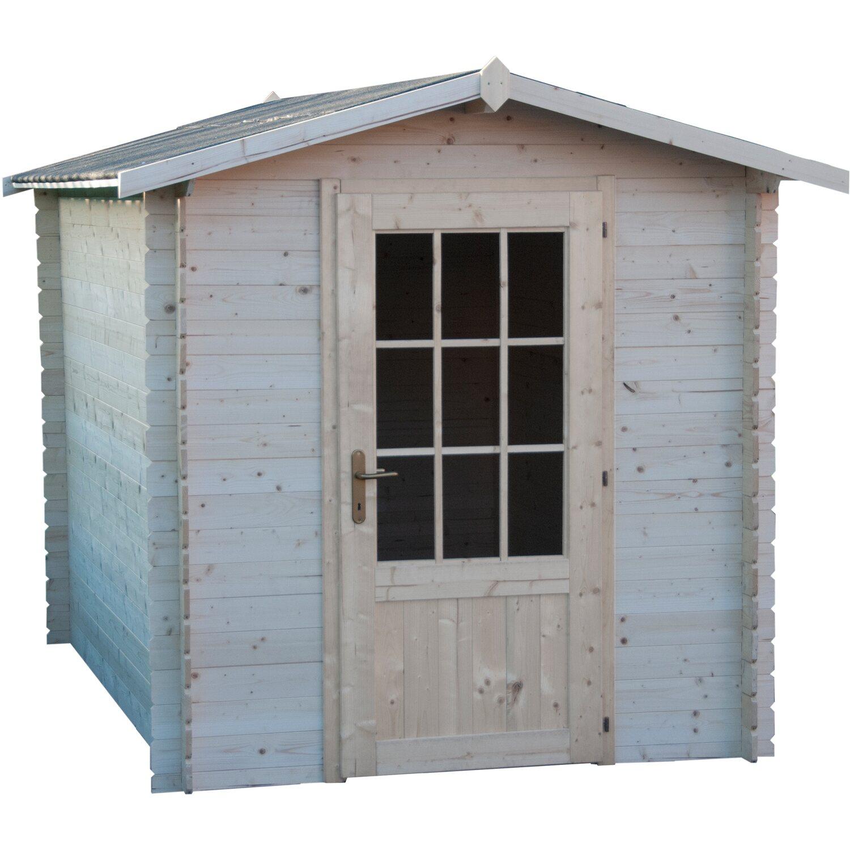 Casetta blockhaus in legno giglio cm 200x300 acquista da obi for Casette legno obi