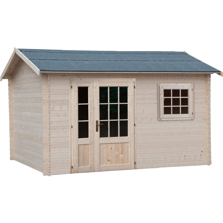 Casetta blockhaus in legno capraia cm 368x258 acquista da obi for Casette legno obi