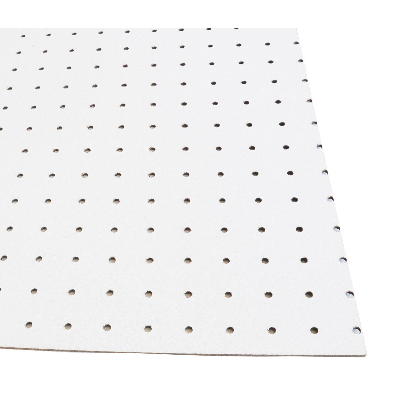 Pannello faesite forata bianca pretagliata 122 cm x 101 cm for Obi pannelli legno