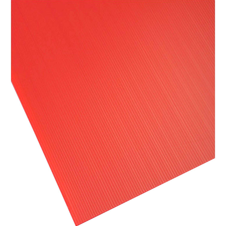 Lastra alveolare plastonda rosso 500 mm x 1000 mm x 2 5 mm for Lastre bituminose obi