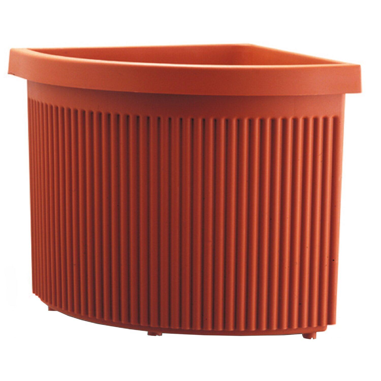 Vaso angolare ionio 35 cm terracotta acquista da obi for Fioriere in legno obi