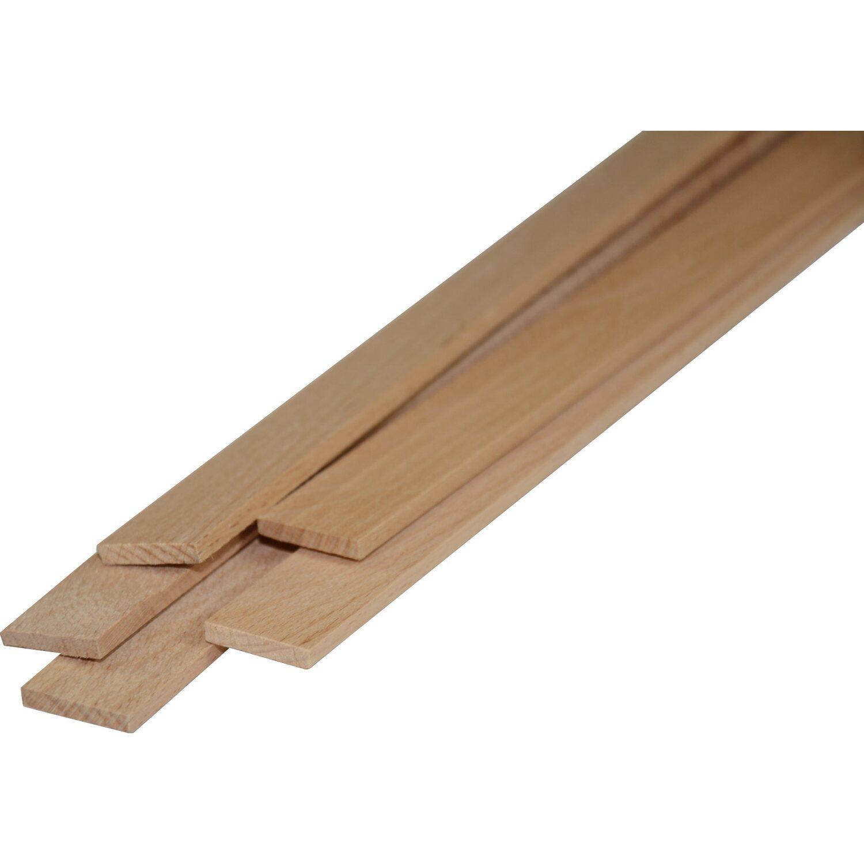 Listello in faggio piallato 4 lati 5 mm x 20 mm x 1000 mm for Obi pannelli legno