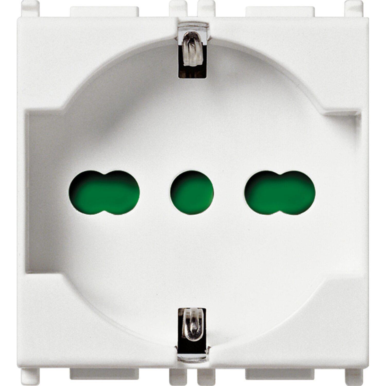 Vimar plana presa 2p t 16a universale colore bianco - Interruttori elettrici vimar ...
