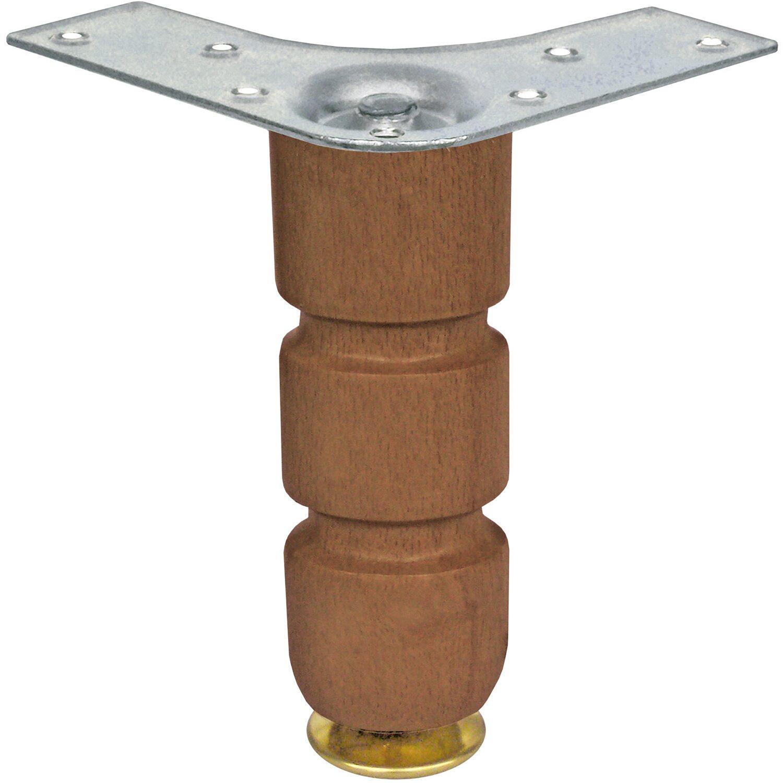 Set piedini conici per mobili in legno tinto noce 15 cm x 9 cm x 9 ...