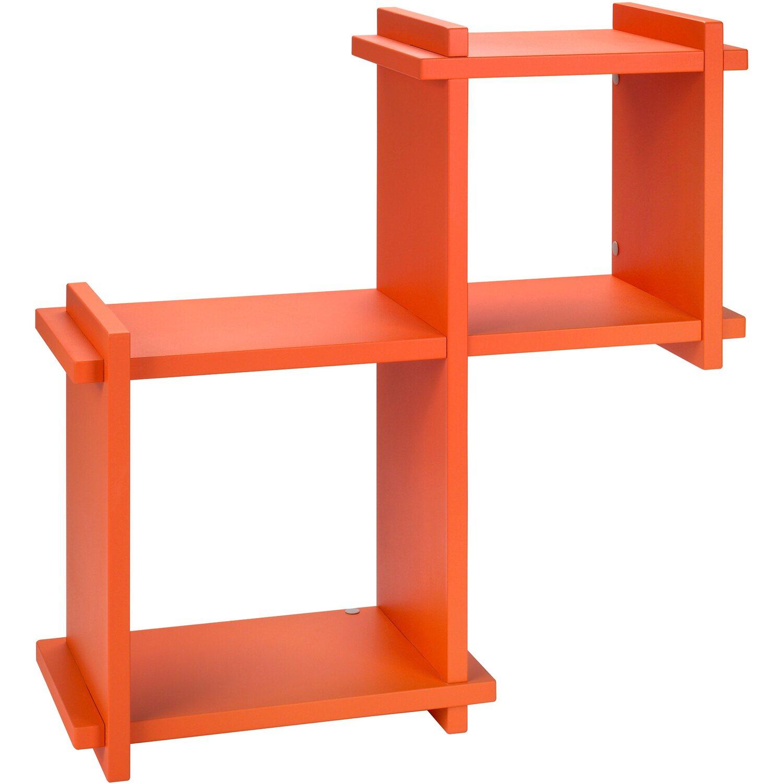 Mensole Angolari Obi.Mensola Ad Incastro Cube Laccato Arancio