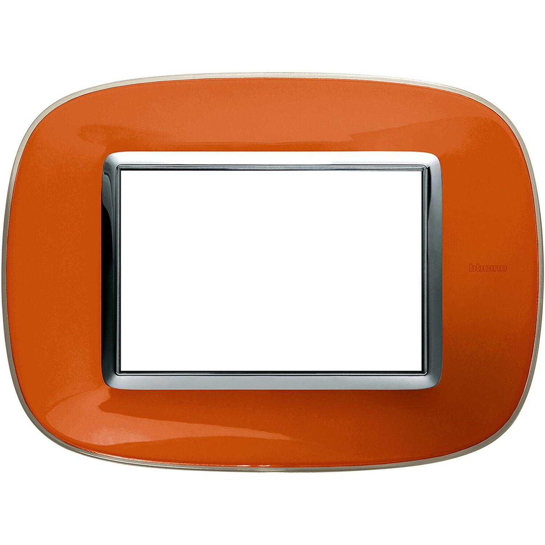 Bticino axolute placca ellittica 3 moduli arancio liquido for Obi stufe a combustibile liquido