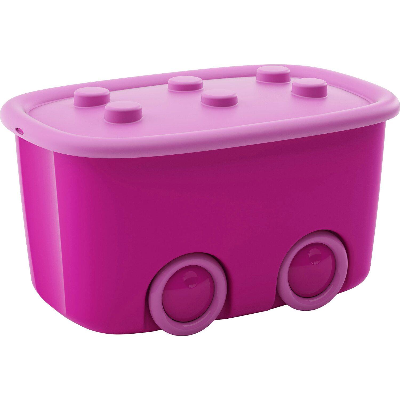 Kis contenitore funny box con ruote rosa 58 cm x 38 cm x - Kis contenitori ...