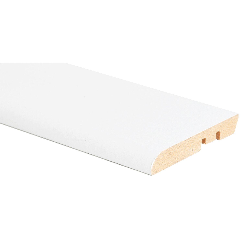 Battiscopa mdf rivestito bianco altezza 6 5 cm acquista da obi for Obi pannelli legno