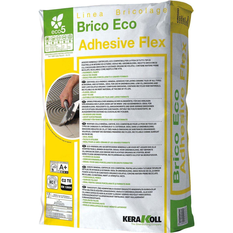Kerakoll brico eco adhesive flex grigio acquista da obi - Brico piastrelle adesive ...
