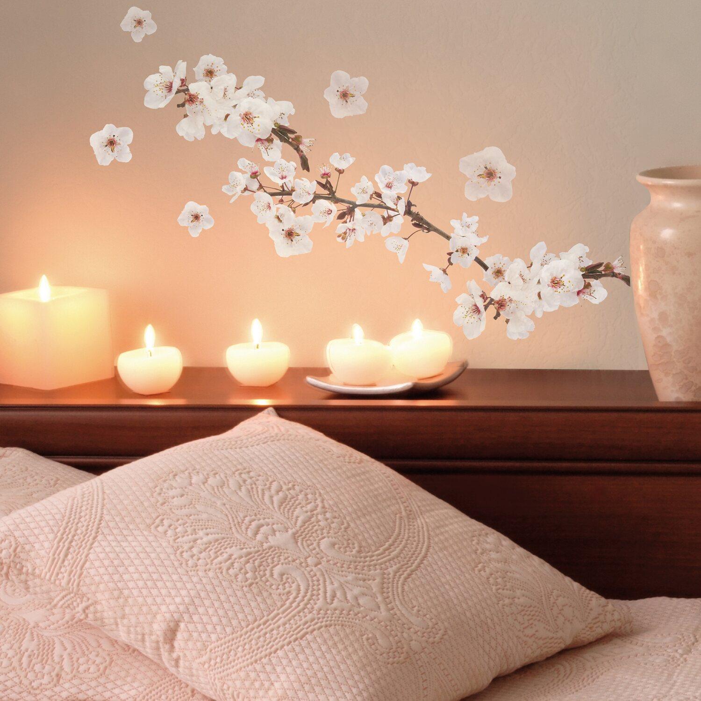 Decorazioni adesive per parete ramo in fiore acquista da obi for Brico adesivi pareti