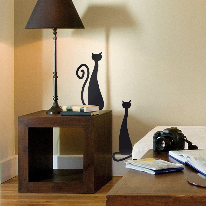 Decorazioni adesive per parete con effetto velluto gatti for Decorazioni da parete adesive