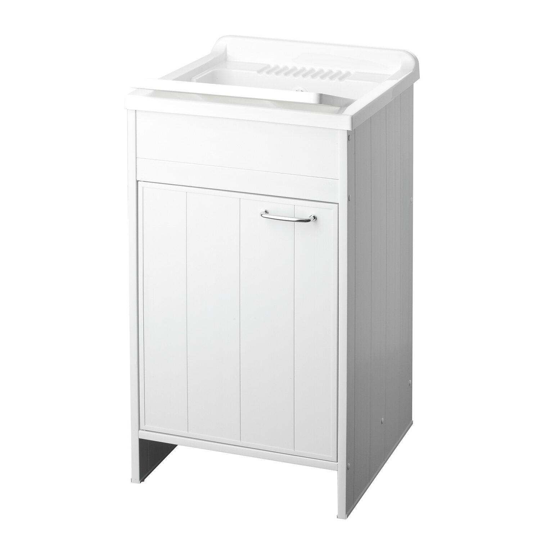 Lavatoio con anta singola pratiko in pvc acquista da obi - Mobile lavatoio ...