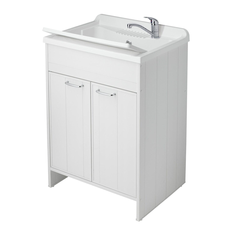 lavatoio con due ante pratiko in pvc bianco acquista da obi