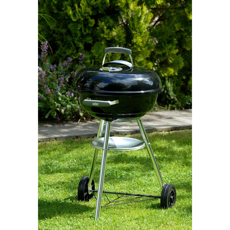 WEBER Compact Kettle BBQ Barbecue a Carbone 47cm Colore Nero Da esterno Nuovo IT