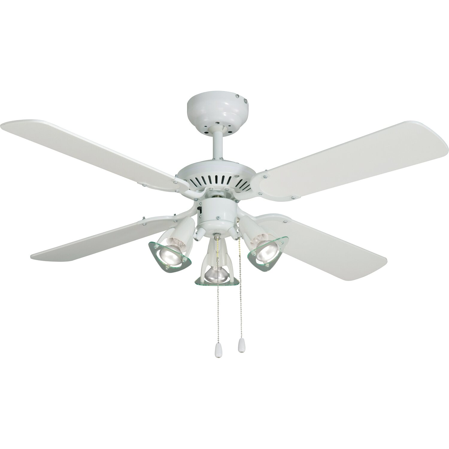 Ventilatore a soffitto cmi princess 107 cm bianco for Obi ventilatori