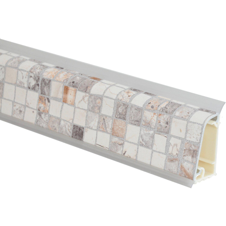 Alzatina in alluminio rivestita crema mattoncini 1 m | OBI