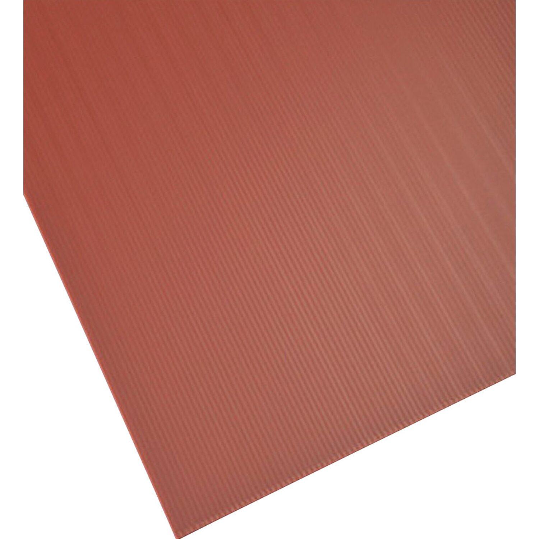 Lastra alveolare plastonda marrone 1000 mm x 2000 mm x 2 5 for Lastre bituminose obi