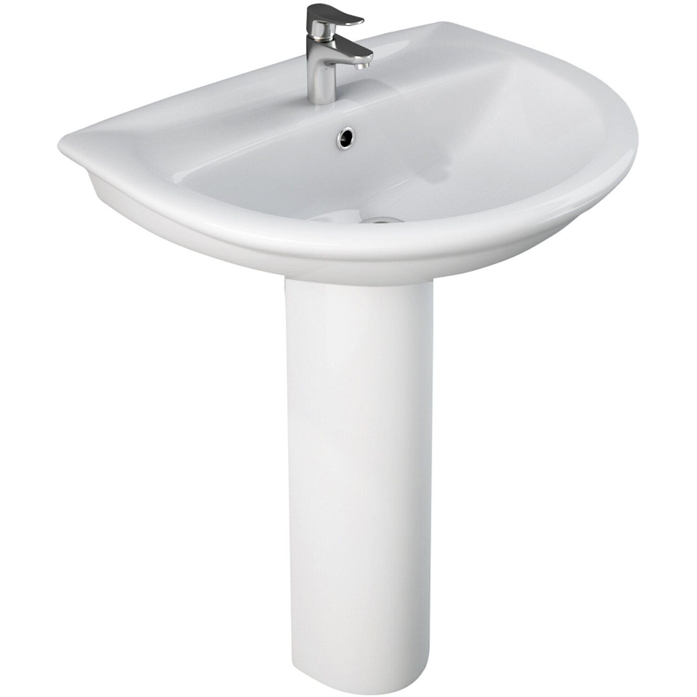 Lavandino Bagno Con Piede colonna lavabo serie fiore