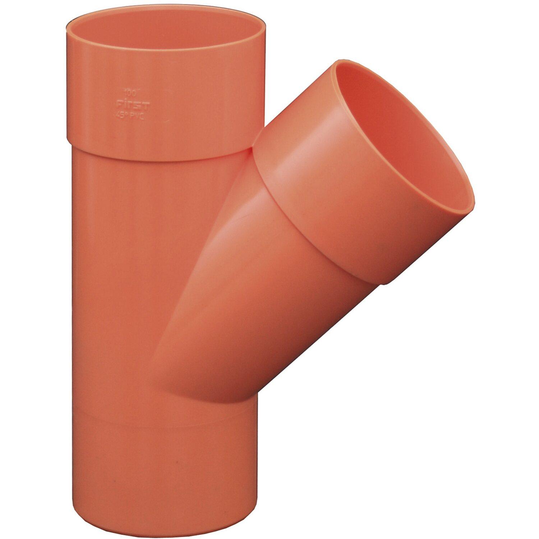 Derivazione in pvc arancione 45 100 mm acquista da obi for Finestre pvc obi