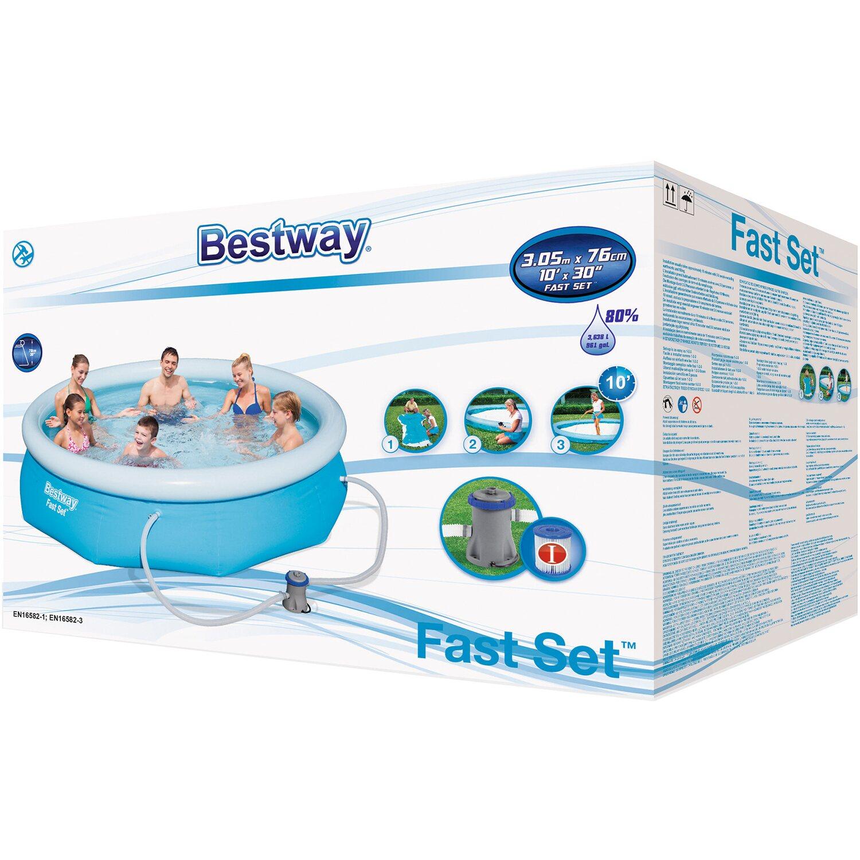 Bestway piscina fast set tonda 305 cm x 76 cm con pompa for Piscinas bestway catalogo