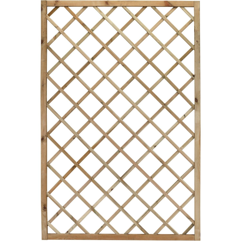 Paravento In Legno Per Esterni grigliato alice 60 cm x 180 cm