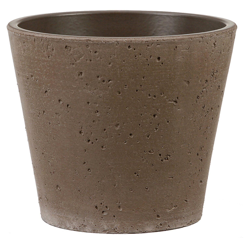 Scheurich coprivaso in ceramica roca umbria marrone 13 for Ceramica roca