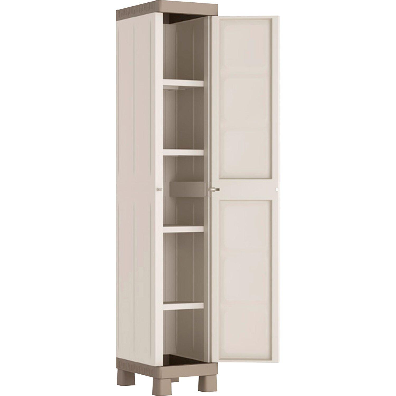 Kis armadio alto in resina excellence 1 anta 45 cm x 33 cm x 182 cm acquista da obi - Mobili da esterno in resina ...