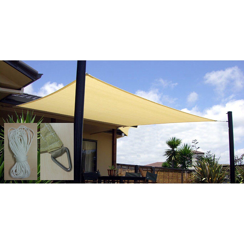 Vela quadrata ombreggiante lato 360 cm colore beige for Tende da sole per esterni obi