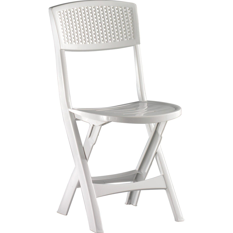 Sedie Di Plastica Pieghevoli.Sedia Pieghevole Mistral In Resina Bianca Con Gommini Antiscivolo
