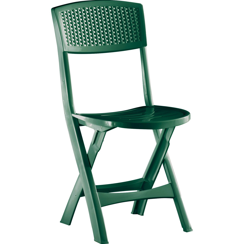 Sedie Da Giardino In Plastica Verdi.Sedia Pieghevole Mistral In Resina Verde Con Gommini Antiscivolo