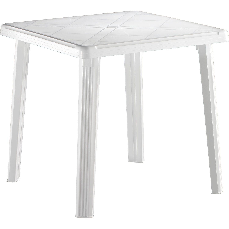 Tavolo rodi 75 cm x 75 cm in resina bianco acquista da obi for Tavoli da giardino obi