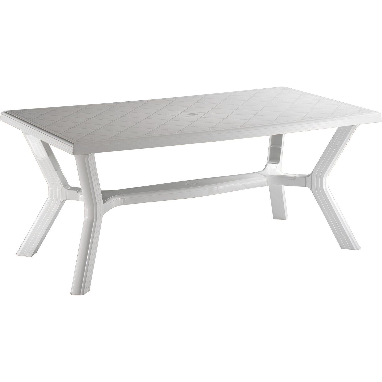 Tavolo carribe 175 cm x 90 cm in resina bianco acquista da obi for Obi tavoli giardino
