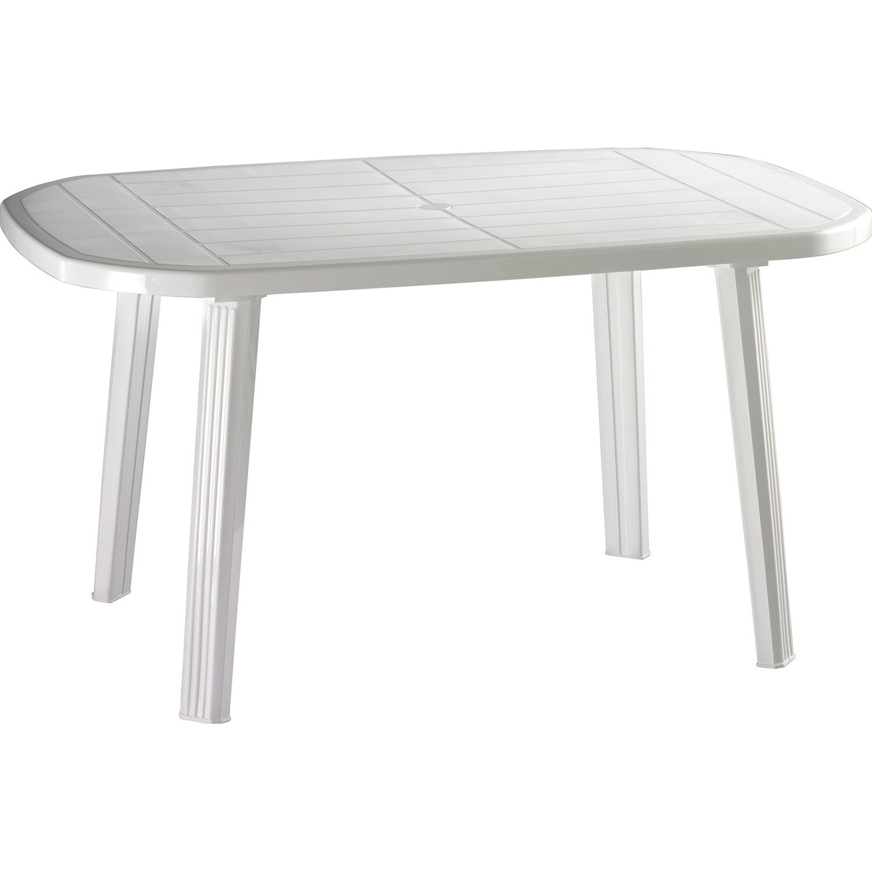 Tavolo In Resina Bianco.Tavolo Ovale Salomone 138 Cm X 85 Cm In Resina Bianco