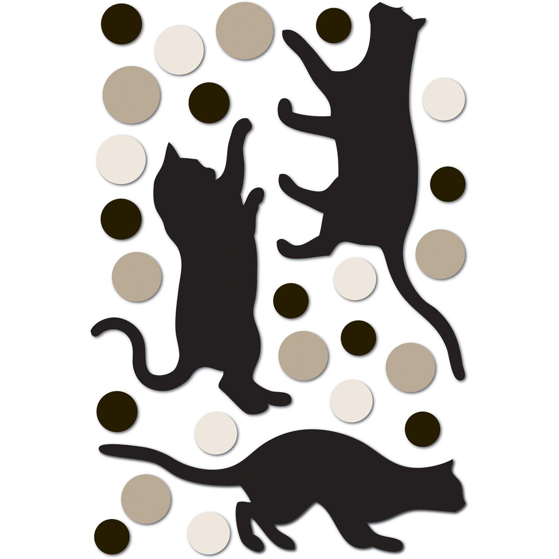 Decorazioni adesive in gomma gatti acquista da obi for Decorazioni muro