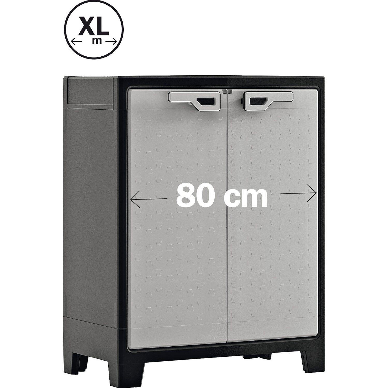 Kis armadio basso in resina titan 80 cm x 44 cm x 100 cm for Armadio esterno ikea