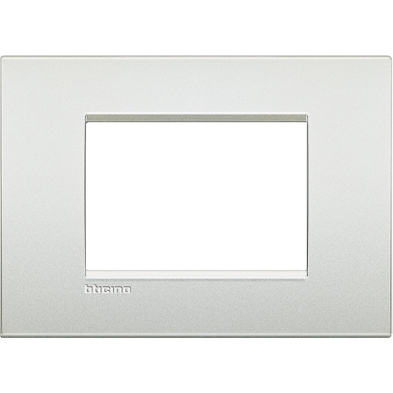 Bticino Livinglight Air Placca 3 Moduli Bianco Perla