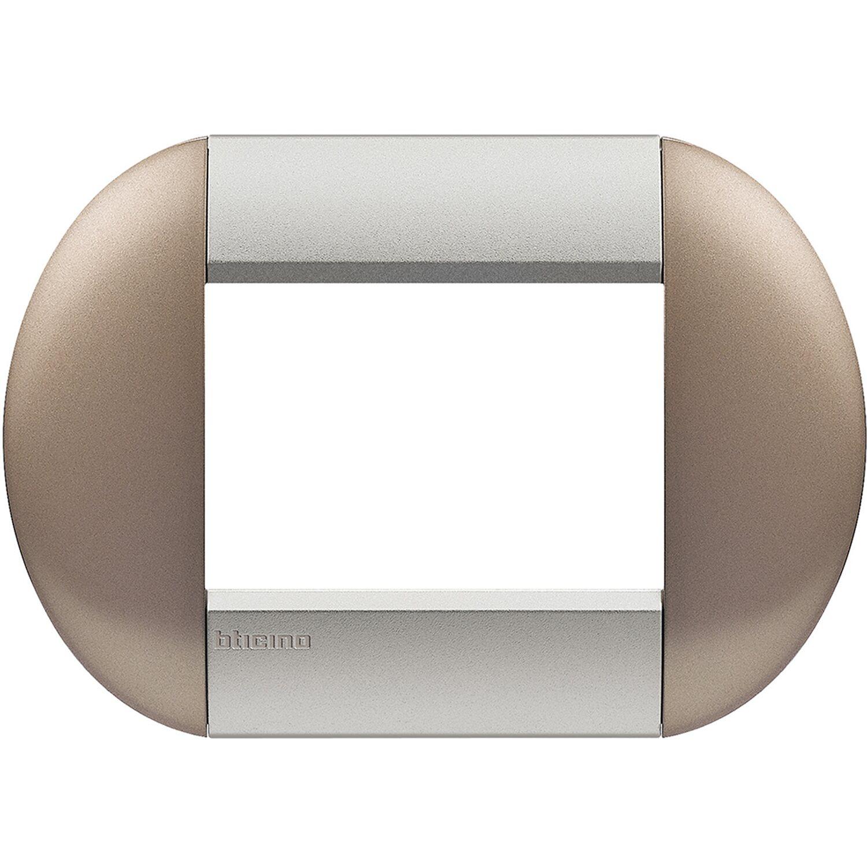 Bticino Livinglight Placca Tonda 3 Moduli Twin Bronze Acquista Da Obi