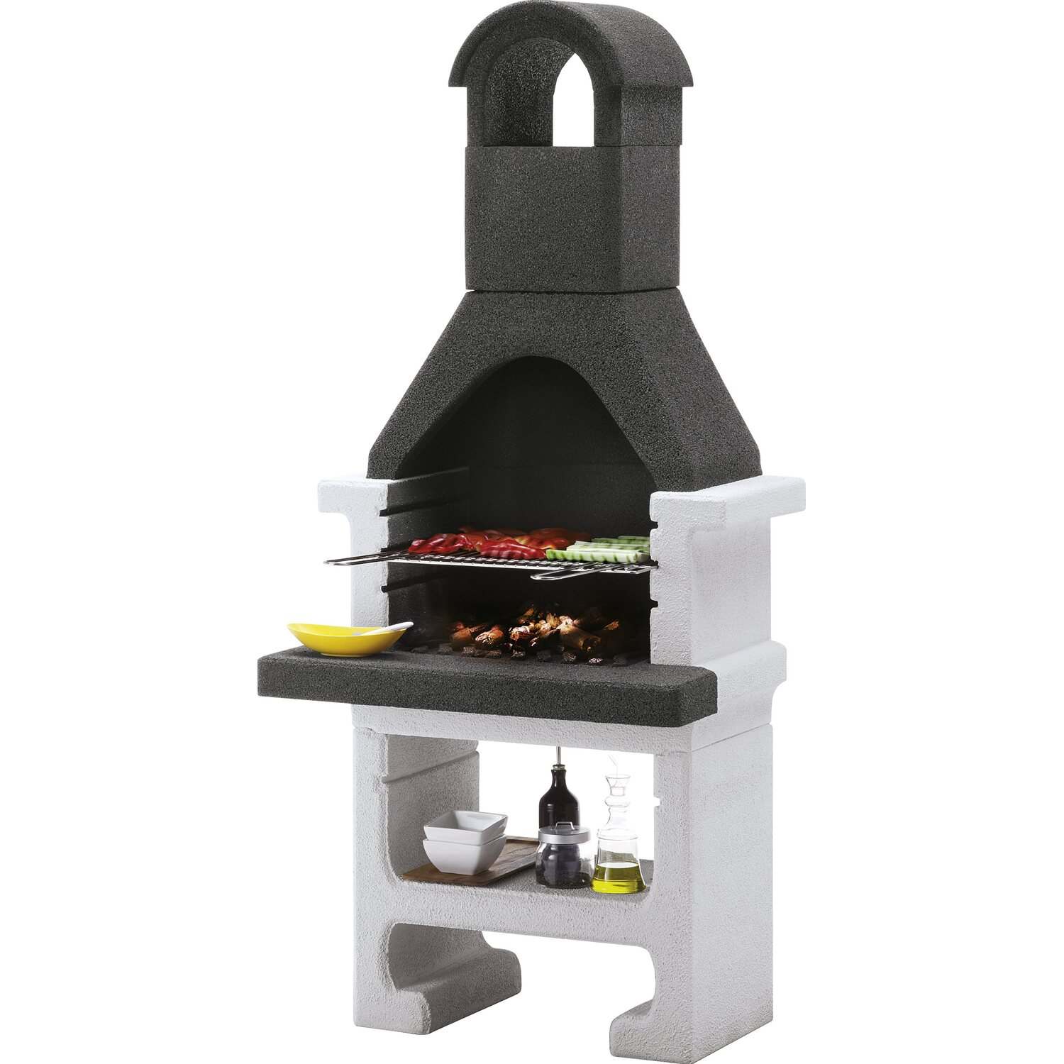 easy garden barbecue in muratura aral acquista da obi