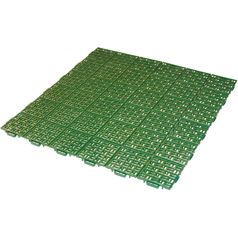 Piastrelle In Plastica Per Giardino.Piastrella Drenante Linea Marte Verde