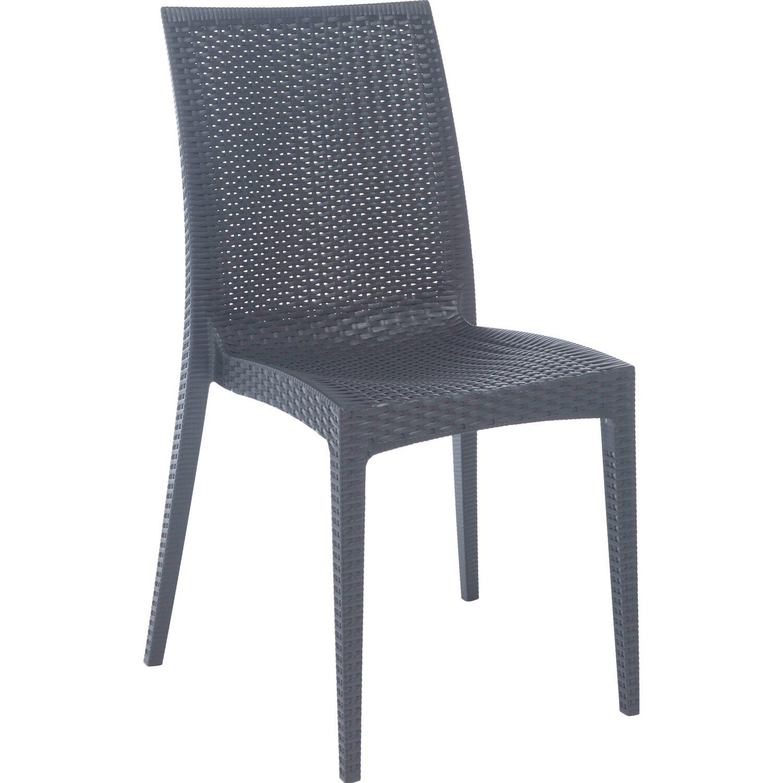 Grandsoleil sedia bistrot antracite acquista da obi for Obi tavoli giardino