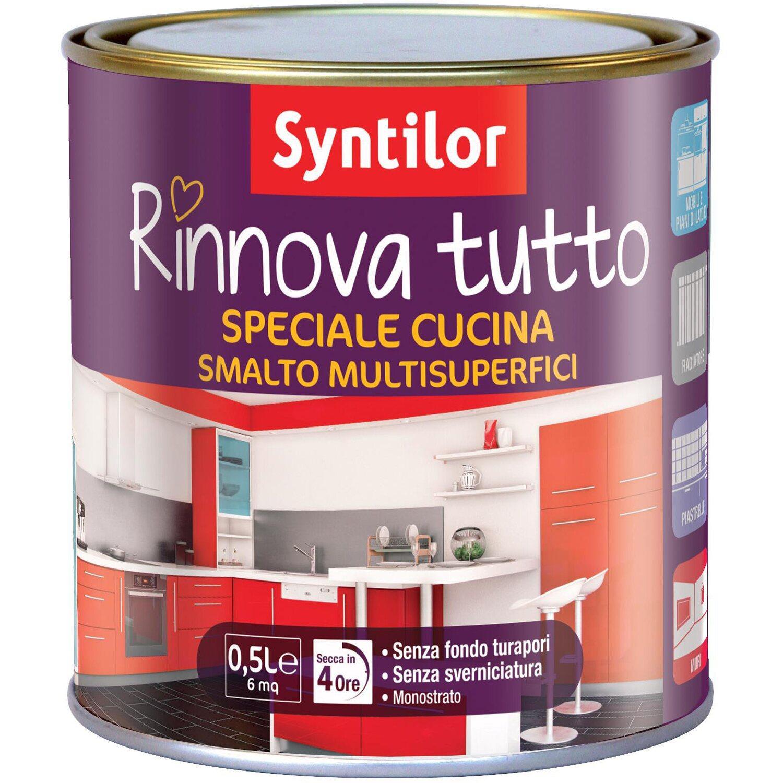 Smalto all acqua per cucina effetto bianco 500 ml acquista - Vernice per cucina ...
