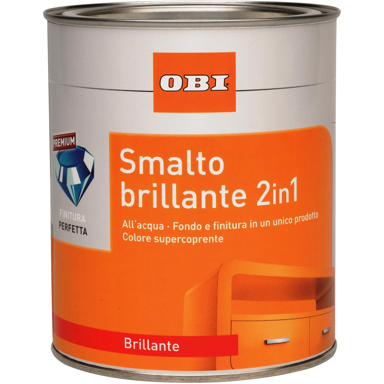 Obi smalto brillante 2 in 1 bianco puro 125ml acquista da obi - Smalto ad acqua per cucina ...