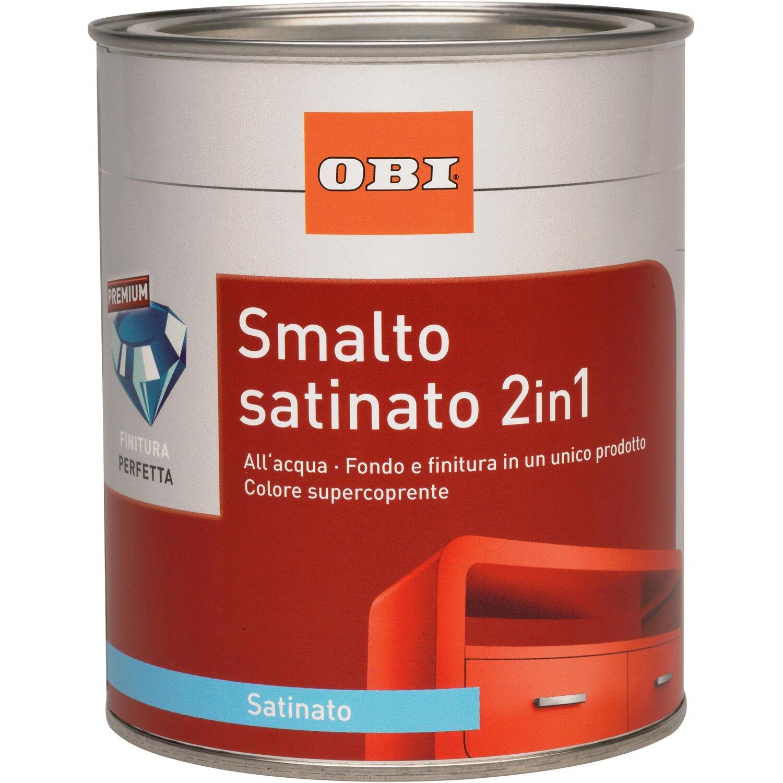 Obi smalto satinato 2 in 1 nero intenso 125 ml acquista da obi - Smalto ad acqua per cucina ...