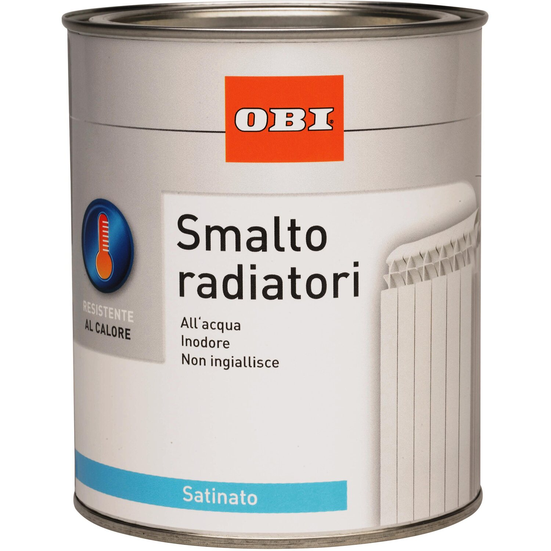 Obi smalto satinato per radiatori bianco crema 750 ml for Vernice per termosifoni