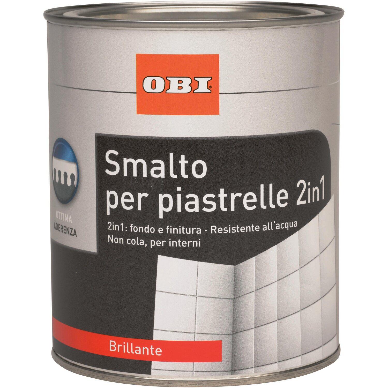 Obi smalto per piastrelle bianco lucido 750 ml acquista da obi - Smalti per piastrelle bagno ...