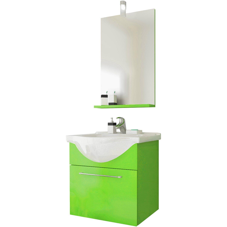Composizione sospesa mini verde acquista da obi - Accessori bagno obi ...
