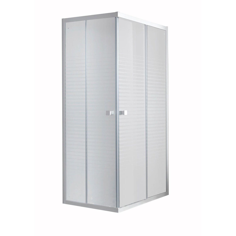 Box doccia angolare laia bianco 80 cm x 80 cm x185 cm for Obi box doccia