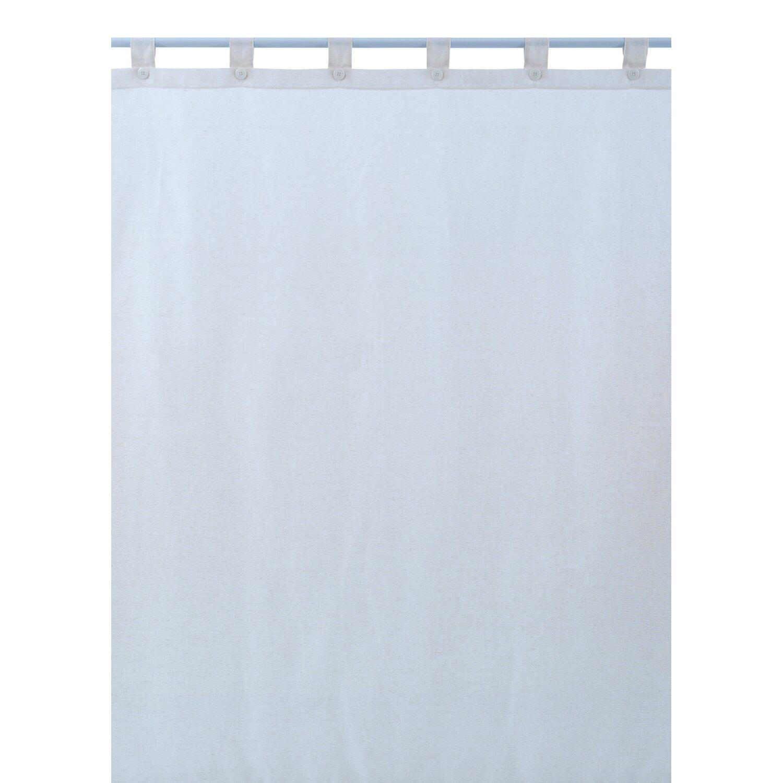 Tessuto Tenda Doccia.Tenda Doccia In Tessuto Linen Bianco 180 Cm X 200 Cm