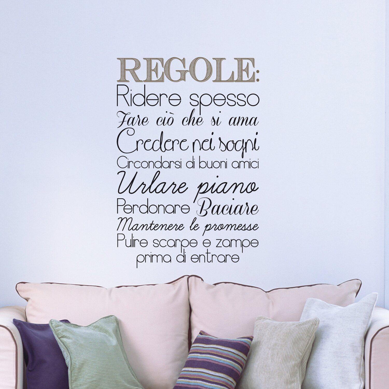 Frasi adesive per parete Regole della casa acquista da OBI