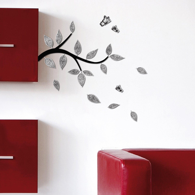 decorazioni adesive in gomma con effetto 3d ramo e
